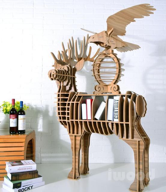 libro portable ciervos estilo libro moderno mdf estante estantera de los productos bsicos pequea estantera moderna - Estanteria Moderna