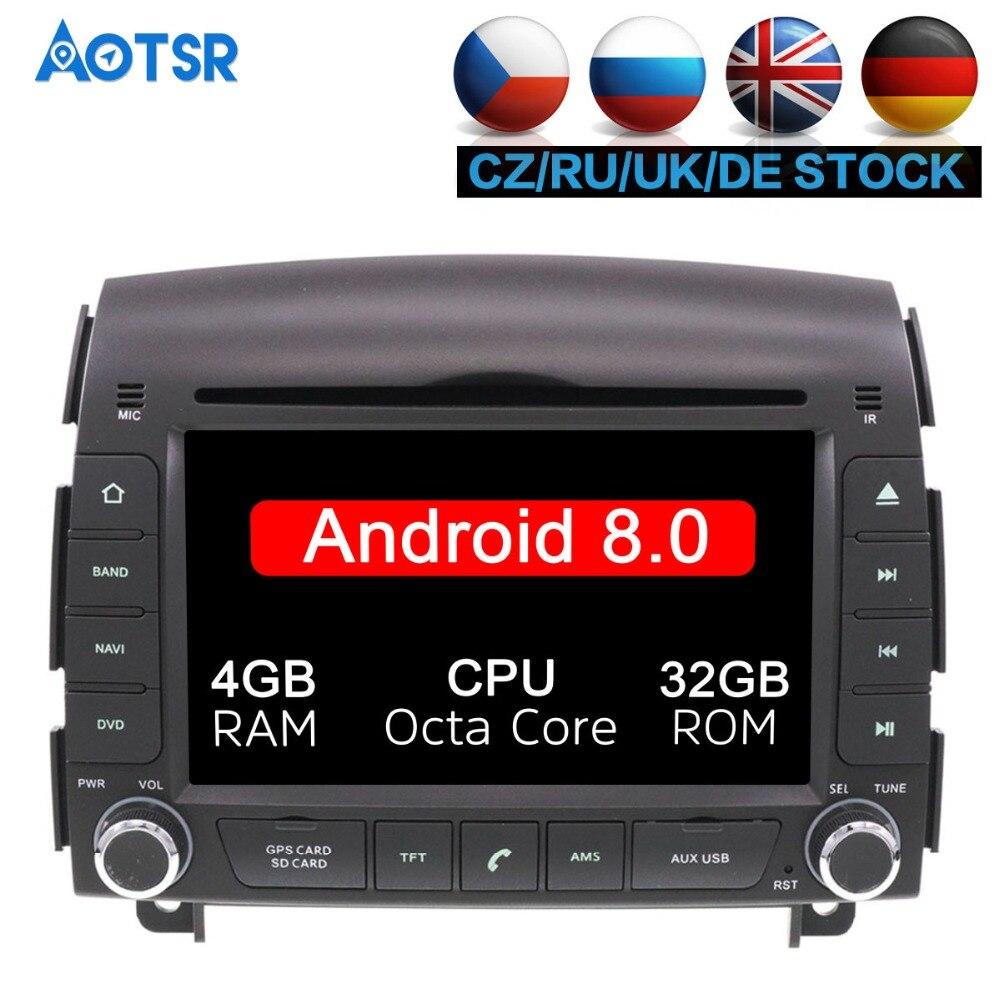 Attent Android 8.0 8 Core 4 + 32 Gb Auto Dvd-speler Gps Radio Voor Hyundai Sonata Nf Yu Xiang 2004 -2008 Autoradio Satnav Navigatie Gps Audio Goed Voor Antipyretische En Keel Fopspeen