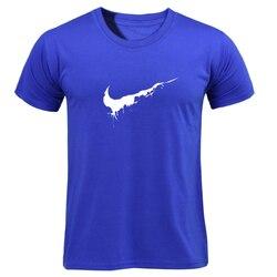 Bawełna Casual drukowanie LOGO męska koszulka najwyższej moda z krótkim rękawem wystarczy złamać go męska koszulka koszula 2019 chanuka Off biały 5
