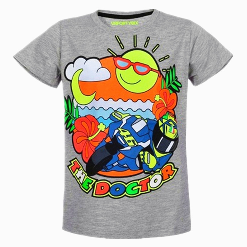 New 2017 Motorcycle Kids t-shirt MotoGP Valentino Rossi VR46 Moto GP Life Style Grey Kids T-shirt The Doctor Children T-shirt