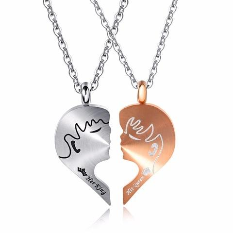 Купить ожерелье из нержавеющей стали 3 цвета романтичный подарок на