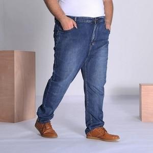 Image 2 - MÙA HÈ THU Quần jeans nam Plus Size Lớn 9XL 10XL quần lớn Quần Jean 48 50 52 Độ Đàn Hồi 8XL cao cấp quần công sở nam 150KG
