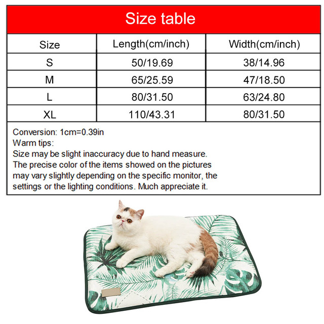 3D Print Summer Ice Silk Pet Dog Cooling Mat For Cat Dogs Floor Mats Blanket Sleeping Bed Cushion Cold Pad 4 Size Pet Supplie 4
