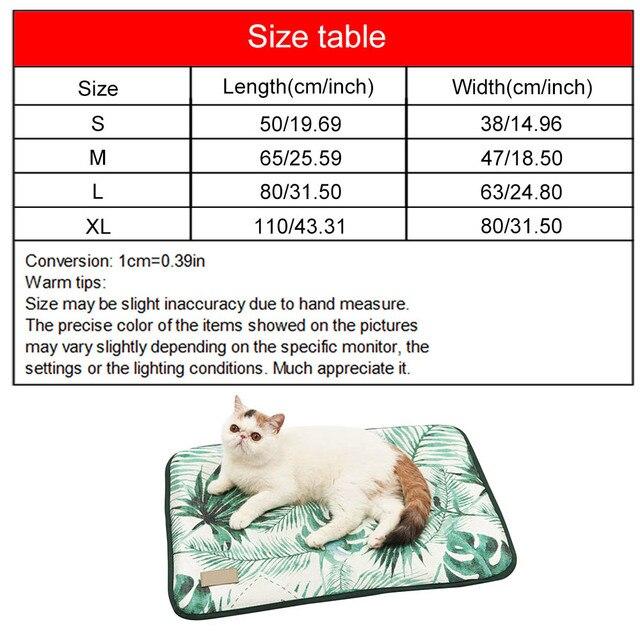 Estera de refrigeración de verano con estampado 3D de hielo de seda para perros y gatos, alfombrillas para el suelo, mantas, camas para dormir, almohadillas frías, suministros para mascotas de 4 tamaños