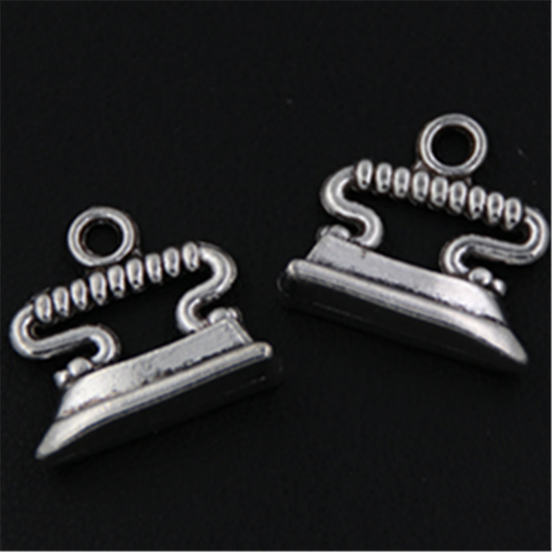 10pcs Antique silver electric iron charm alloy pendant for earrings necklace DIY handmade charm jewelery makings A517