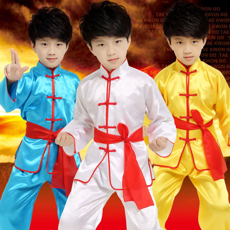 High Quality Children's Martial Arts Clothing Long Sleeved Sets Children's Tai Chi Chuan Gymnastics Uniforms Costumes