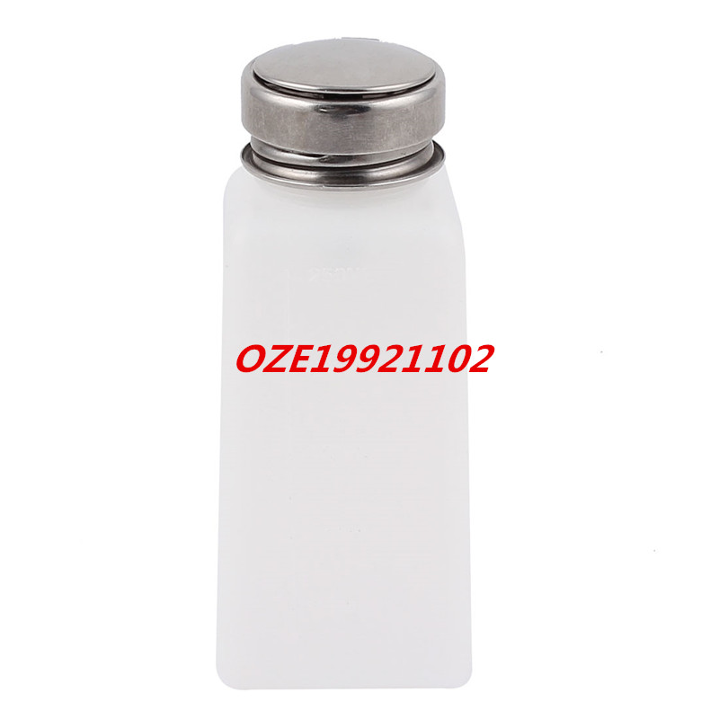 1PCS 250ml Nail Polish Solder Flux Liquid Alcohol Press Pumping Dispenser Bottle