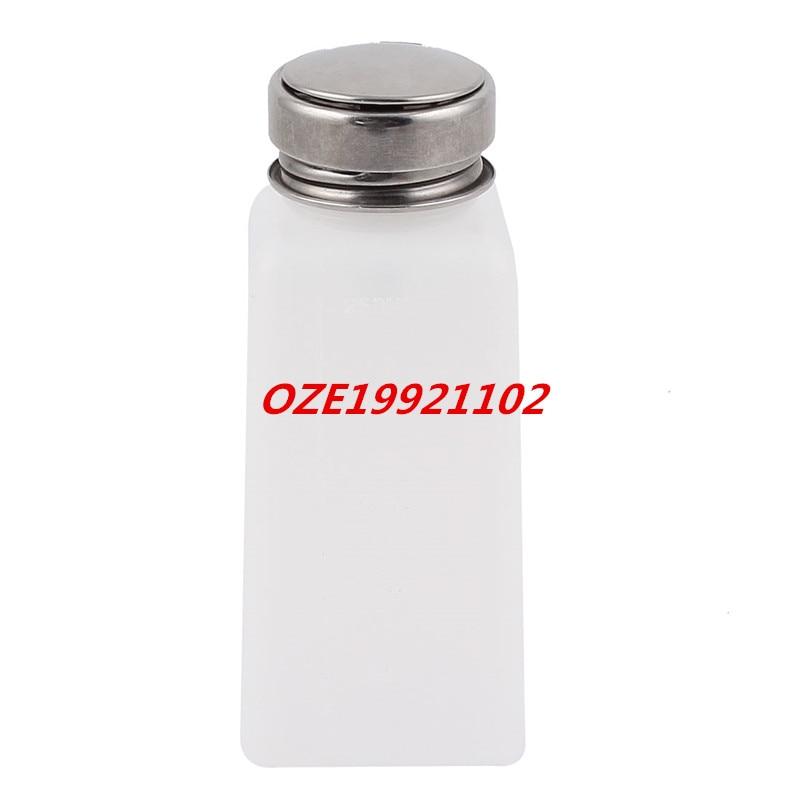 1PCS 250ml Nail Polish Solder Flux Liquid Alcohol Press Pumping Dispenser Bottle professional plastic nail polish remover press bottle translucent white 200ml