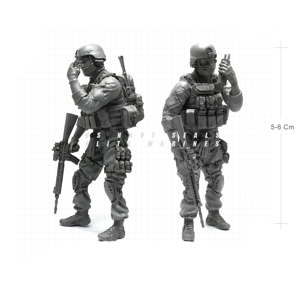 1/35 Modern U.S Navy Seals Elite Marines Contacting Military Soldier Resin Model Figure NAI-05