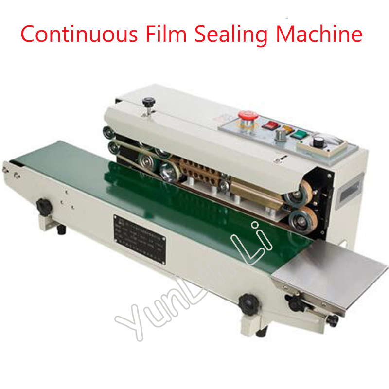 Continuous Auto Film Sealing Machine Horizontal PVC Membrane Bag Film Sealing Machine Plastic Film Sealer FR-770 automatic continuous plastic film sealing machine for food cosmetic potato chips dbf 1000 110v 60hz