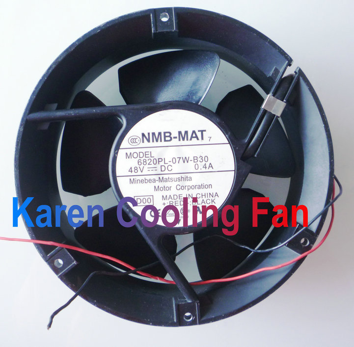 NMB 17CM 6820PL-07W-B30 17250 48v 0.4a 2wire Cooling fan nmb 12cm 12038va 48r gl 12038 48v 0 90a 3wire 120mm waterproof ip55 cooling fan 4715vl 07w b69
