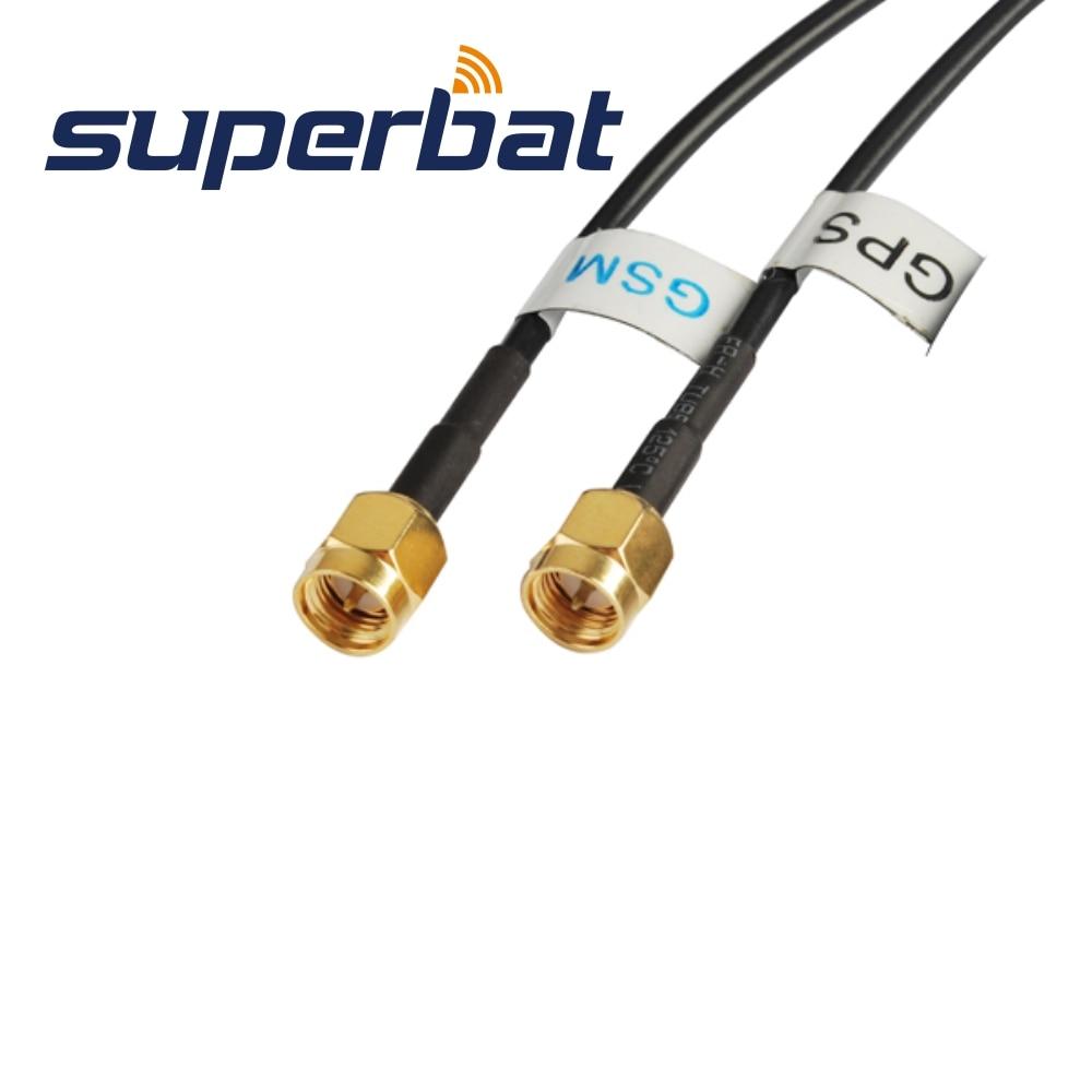 Superbat voiture GPS GSM 3G 4G LTE aileron de requin antenne combinée récepteurs GPS et Applications mobiles cellulaires antenne 5 m RG174 SMA 2