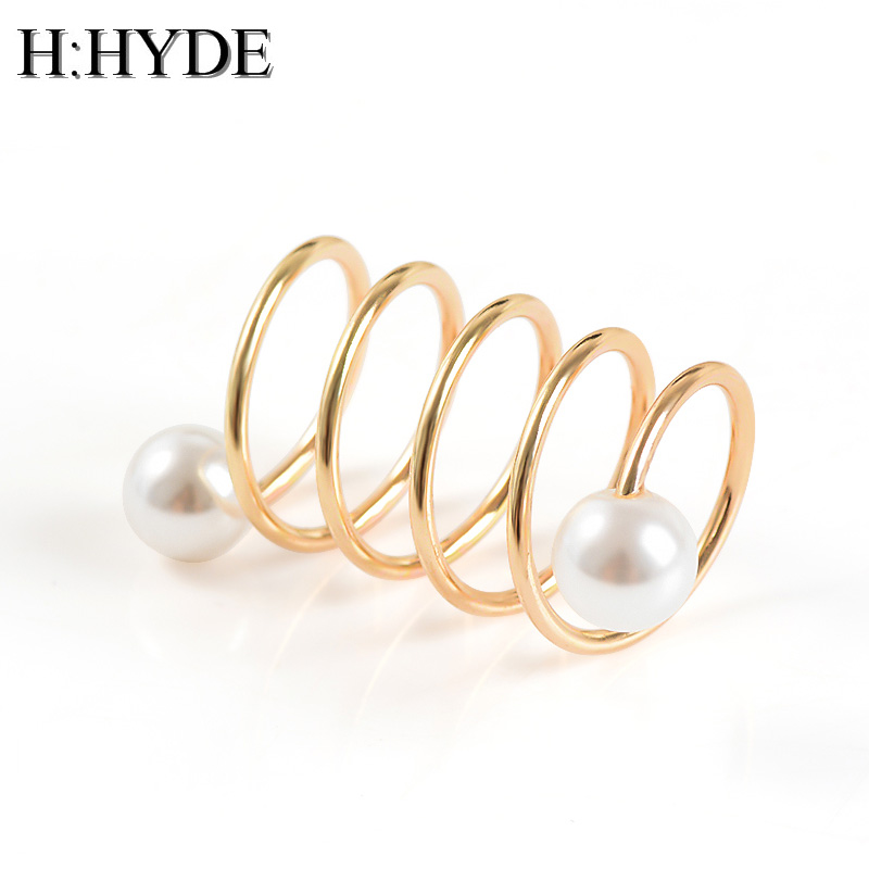 Fashionable Copper Scarves Buckle Silk H Shape Loop Ring Buckle Rose Gold