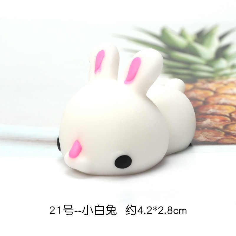 Mini Squishy mignon chat anti-Stress balle presser Mochi croissant Abreact doux collant soulagement du Stress drôle jouet escuishi