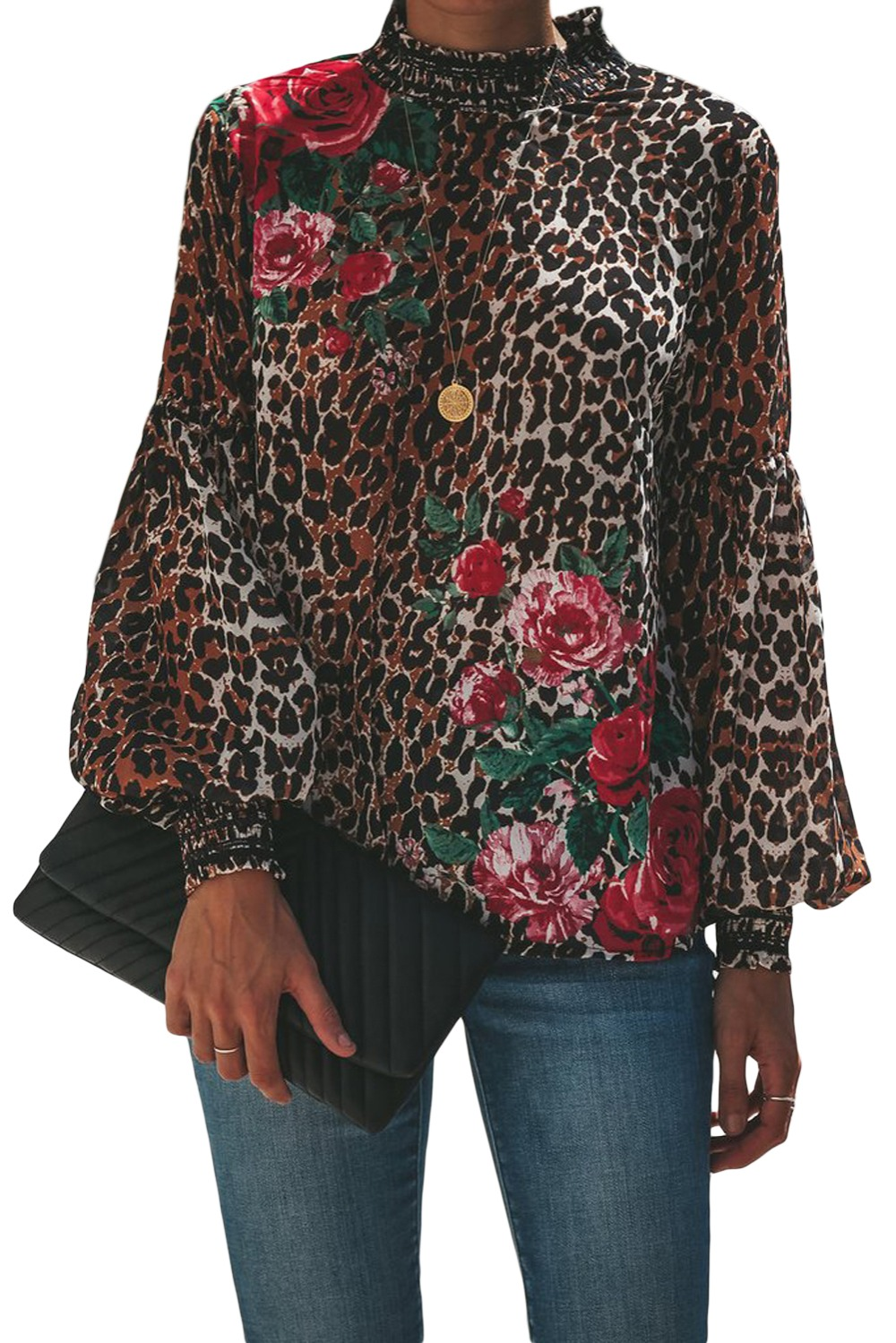 Leopard-Peony-Print-Smocked-Long-Sleeve-Blouse-LC251632-20-1