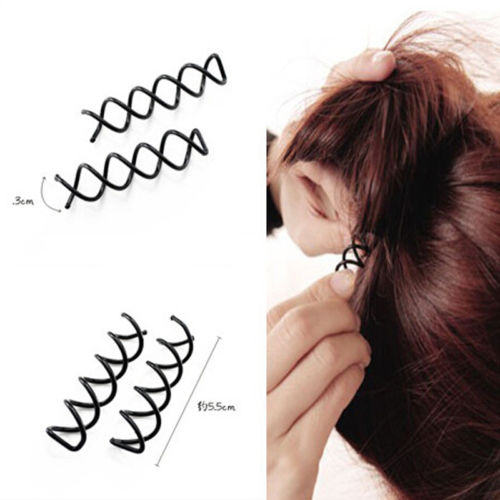 Hot 10PCS Spiral Spin Screw Bobby Pin Hair Clip Twist Barrette Black  Hair Styling Tool
