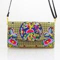 2015 новая Национальная этническая вышивка Сумка Ручной Работы вышитые плеча messanger сумка женщины малый кожух сцепления сумки