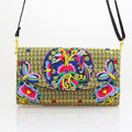 2015 new National ethnic embroidery Bag Handmade embroidered shoulder messanger bag women small Clutch cover handbag