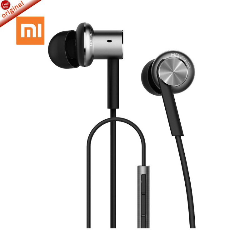 100% Original Hybrid Pro Mi In-Ear Earphone with Microphone For Mobile Phone xiaomi Huawei Android Phones original xiaomi xiomi mi hybrid earphone 1more design in ear multi unit piston headset hifi for smart mobile phone fon de ouvido