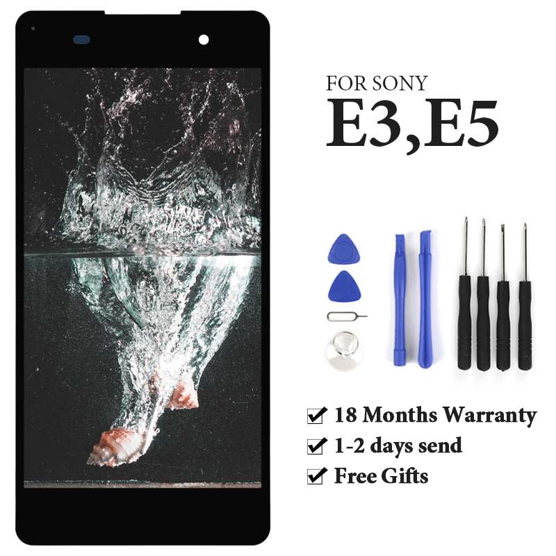 For <font><b>Sony</b></font> <font><b>Xperia</b></font> E5 <font><b>LCD</b></font> Display With Touch <font><b>Screen</b></font> With Frame Assembly Replacement For <font><b>Sony</b></font> <font><b>Xperia</b></font> <font><b>LCD</b></font> <font><b>D2203</b></font> D2243 F3311 F3313 image