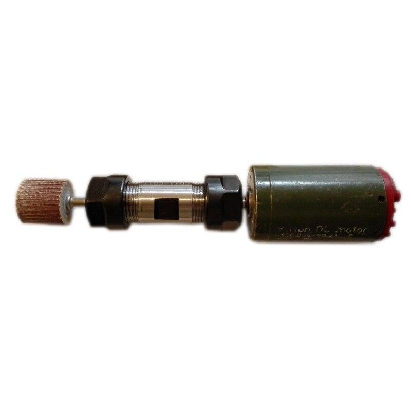 Double head motor shaft ER11 ER16 ER20 ER25 ER32 Collet Chuck Motor Shaft Extension Rod Spindle Lathe Tools