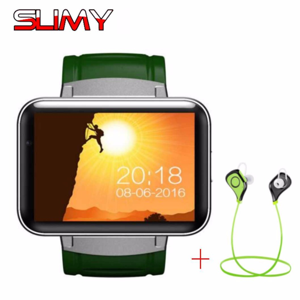 Slimy DM98 Bluetooth 3G Smart Watch 2.2 Inch Android OS Wifi Smartwatch Phone MTK6572 Dual Core 1.2GHz 512MB RAM 4GB ROM 900mah hetngsyou android smartwatch waterproof phone bluetooth smart watch 1 3ghz dual core ip67 gps watch cam 1g 8g heart rate 3g wifi