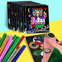 Papel Glitter cor Mágica Pintura Da Arte de Desenho Brinquedos Para Colorir Crianças DIY Artesanato Educação Aprendizagem Cartão Cor Da Pintura Da Arte