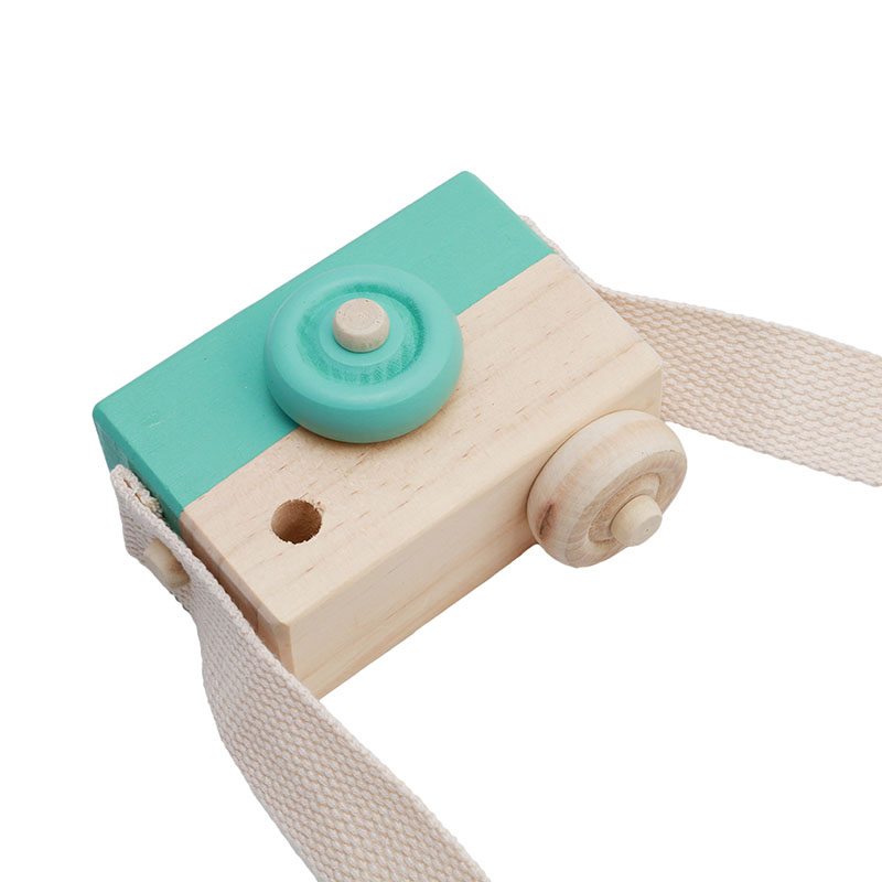 Mini Cute Wood Camera Toys Birthday Christmas Holiday Gifts