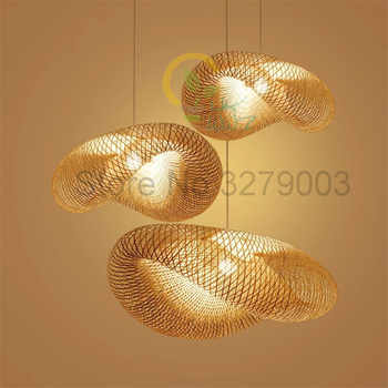 Southeast Asian Handmade Bamboo Weaving Rattan Art Pendant Lights Personality Restaurant Hotel Coffee Hanging Lamps Fixture - DISCOUNT ITEM  25% OFF All Category