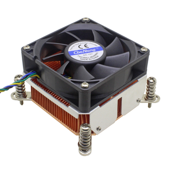 2u Server CPU Cooler Copper skiving Heatsink Cooling Fan For Intel Xeon LGA 1150 1151 1155 1156 Industrial Computer Cooling image