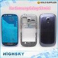 Новые запасные части для Samsung Galaxy S3 mini i8190 полный крышку корпуса аксессуары синий и белый 1 шт. бесплатная доставка