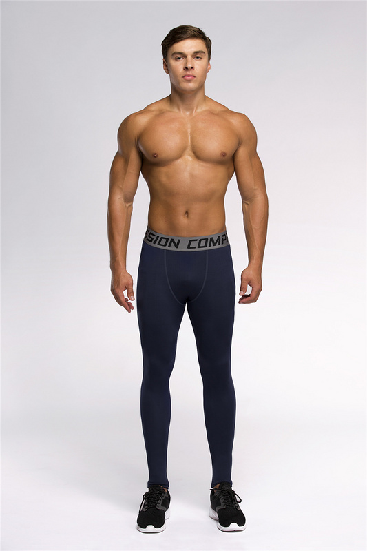 men compression tights long pants sport training leggings