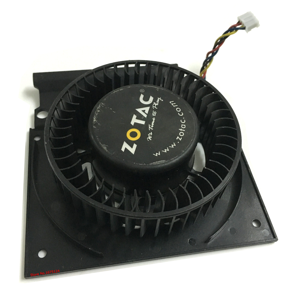 computer Graphics card fan Firstdo FD7525U12D DC 4Pin VGA GPU Cooler Fans ZOTAC Video Card cooling 2pcs gpu rx470 gtx1080ti vga cooler fans rog poseidon gtx1080ti graphics card fan for asus rog strix rx 470 video cards cooling