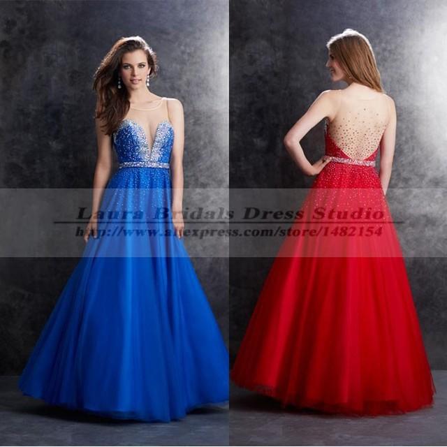 Vestido De Formatura Longo Sexy Abendkleider Long Elegant Royal Blue ...