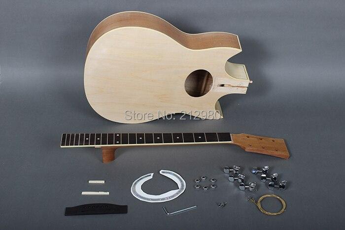 39 Natural Jumbo Guitar Chinese Diy Acoustic Guitar Kit In
