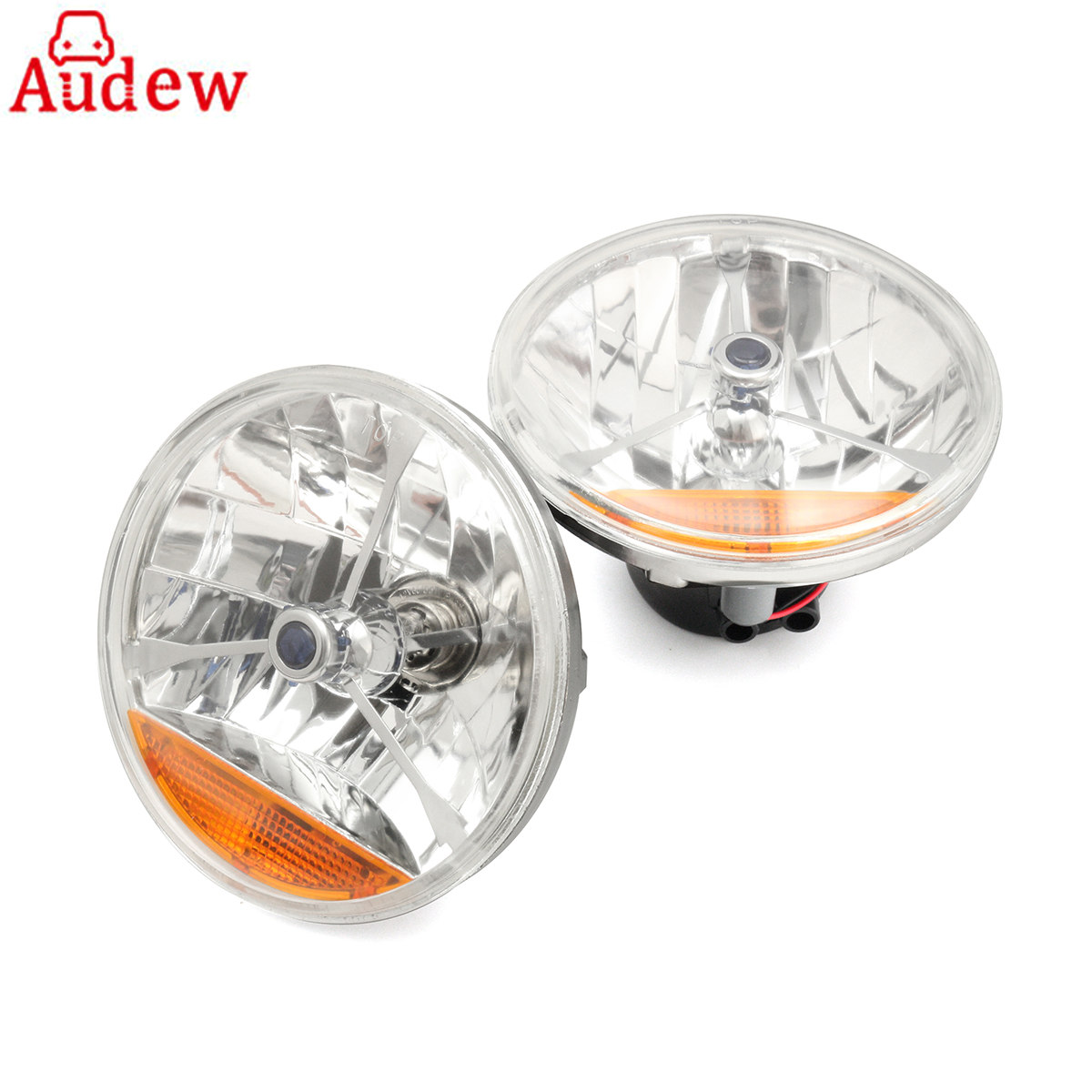 2Pcs 7 Inch H4 LED Car Headlight Fog Light  For Chevy/Ford Motorcycle  Daytime Running Lights Truck Light Led Side Turn Signal 9 cd