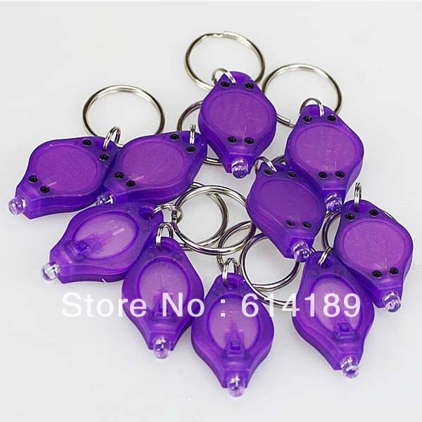 395nm UV LED Keychain Money Detector (10pcs/lot)