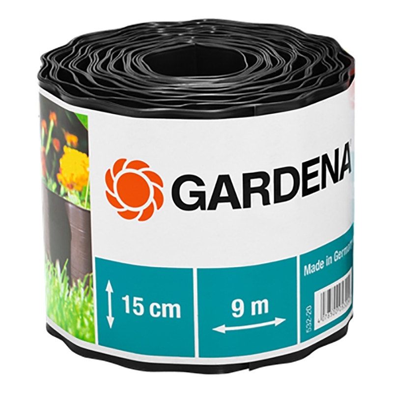 Curb GARDENA 00532-2000000 (Length 9 m, height 15 cm, for adornment flower клумб and lawns, prevents penetration of weed, material-plastic) curb gardena 00534 2000000
