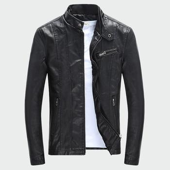 Hommes PU vestes manteaux automne hiver moto Biker Faux cuir veste hommes vêtements épais velours manteaux M-3XL ML007