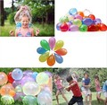 3set/pack111pcs Balloon Thin Pipe Bunch Magic Water Bombs With O Rings Kids Summer Outdoor Toys Mix Latex