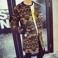 Горячий новый угловые чжи - длинные GD же стиль прилив бренд зимний мужской длинное пальто шерстяное пальто певица костюмы плащ верхней одежды