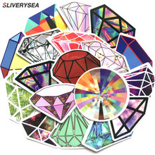 Car Stickers [18Pcs] Diamond Laptop Stickers for Snowboard Car Luggage Skateboard Motorcycle Phone Decal Sticker стоимость