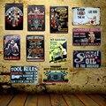 [Mike86] garaje aceite de Motor pared placa de Metal de hierro pintura regalo Retro Bar amigo a casa decoración de 20X30 CM FG-2
