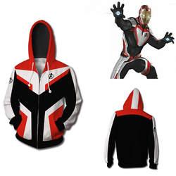 Мстители Endgame Quantum Realm Толстовка Куртка Advanced Tech толстовка с капюшоном, костюмы для костюмированной игры 2019 Новый супергерой Железный
