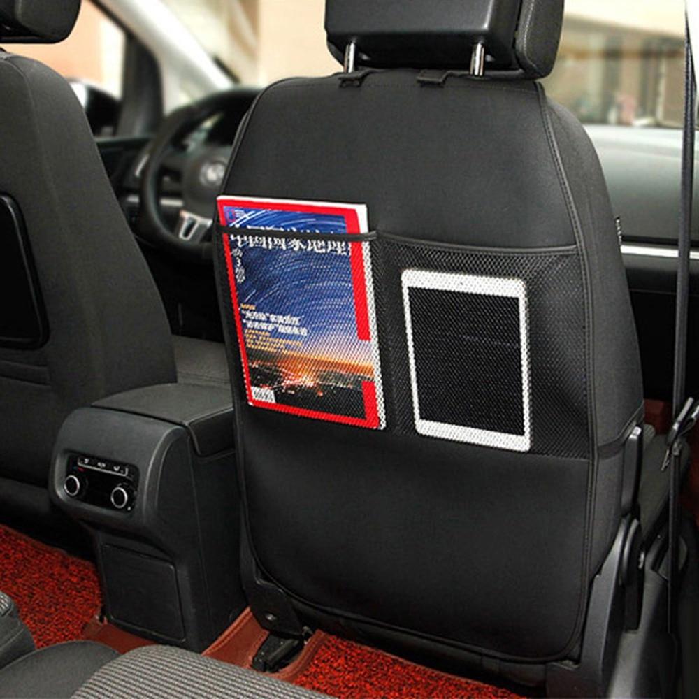 Moqiu nuevo cuero pu protector anti golpes acolchado asiento de coche trasero suciedad - Accesorios coche interior ...
