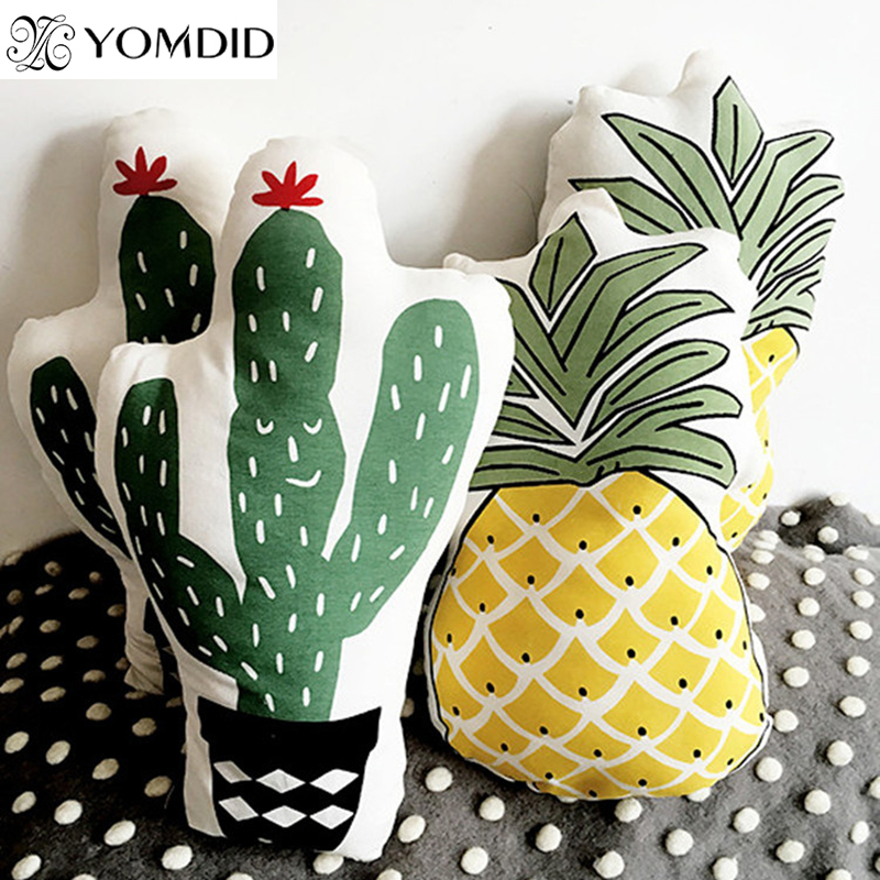 Pineapple cactus cushion cotton Pillowcase for home sofa chair Decorative Pillows Home Car Bed Decor Birthday Gift Kids gifts