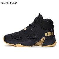 FANCIHAWAY Brand Boy Basketball Shoes Men Women Breathable Outdoor kids 11 Basketball Sneakers Children High Top Basket Homme
