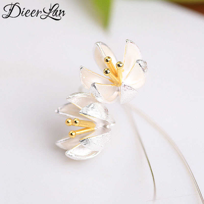 2017 New Arrivals 925 Sterling Silver Lotus Earrings For Women Fashion Jewelry sterling-silver-jewelry pendientes