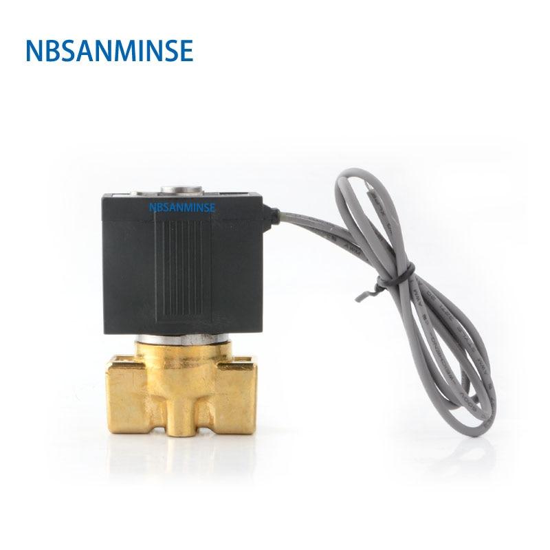 NBSANMINSE VX2120 G1/8 1/4 3/8 électrovanne en laiton vanne 2 voies 2 positions Air vapeur eau vanne normale fermer Type SMC