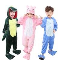 Baby Boys Girls Pajamas Warm Winter Animal Stitch Pig Pajamas For Kids Pijamas Kid Clothes Cute